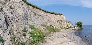 Clarington - A till cliff, Lake Ontario shoreline.
