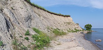 Clarington - A till cliff, Lake Ontario shoreline.