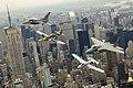 Classic aircraft over New York City 2008.jpg