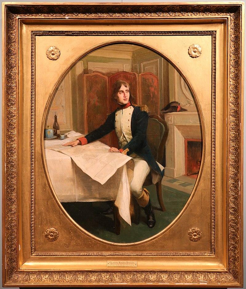 Claude marie dubufe, ritratto di napoleone bonaparte in uniforme di ufficiale dei volontari.jpg