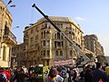Cleanup after Hosni Mubarak's departure, Cairo, Egypt (from Al Jazeera) - 20120212-01.jpg