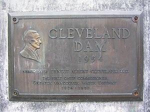 Cleveland Dam - Image: Cleveland Dam Plaque
