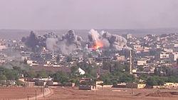 Coalition Airstrike on ISIL position in Kobane.jpg