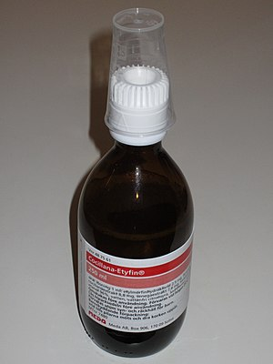 "English: A bottle of cough medicine ""Coci..."