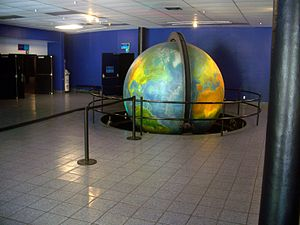 Phillip and Patricia Frost Museum of Science - Image: Coco Grove FL Mo Sa STP globe 01