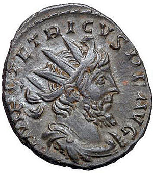 Gallic Empire - Coin of Tetricus, last emperor (271–274) of the Gallic Empire