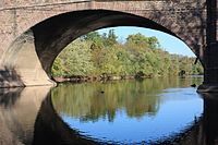 Collegeville Bridge looking up the Perkiomen Creek.jpg