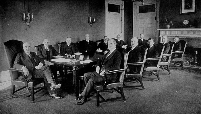 Collier's 1921 United States of America - Harding with his Cabinet.jpg