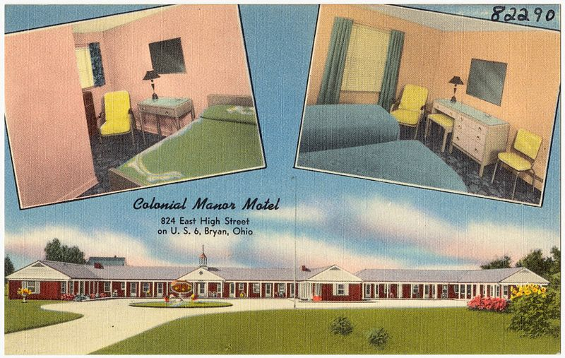 Colonial Motel Bryan Ohio