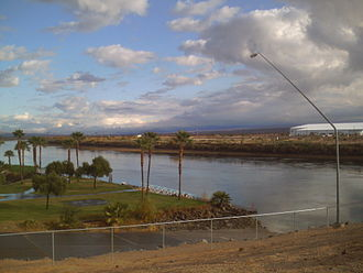 Fort Mohave, Arizona - View of Fort Mohave from Avi Resort and Casino