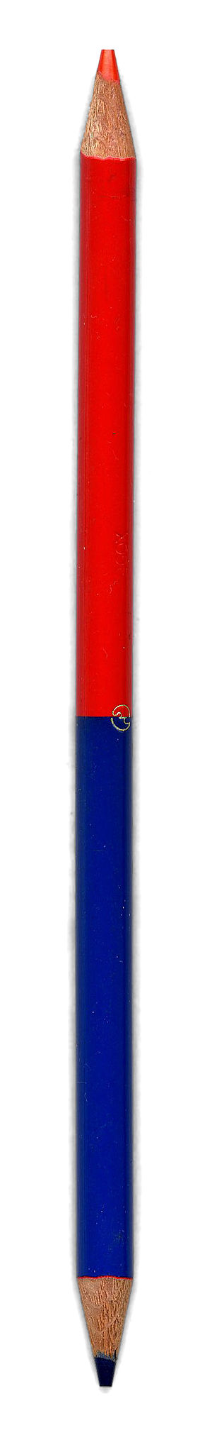 Blue pencil (editing) - A red and blue pencil