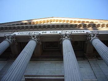Columnas y fachada del Congreso de los Diputados de Espa%C3%B1a