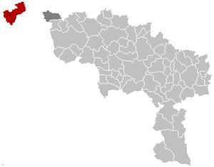 Comines-Warneton - Image: Comines Warneton Hainaut Belgium Map