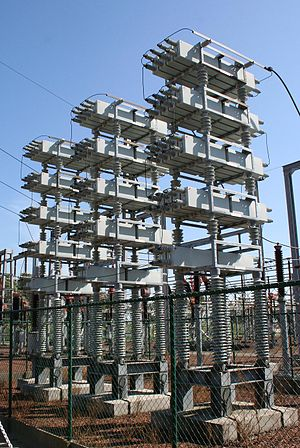 Power factor - 75 Mvar capacitor bank in a 150 kV substation