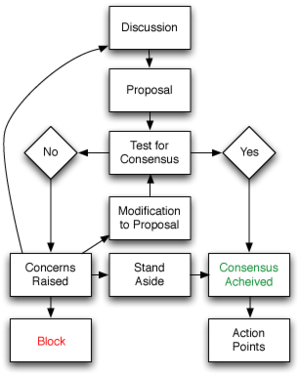 Flowchart of basic consensus decision-making process.