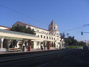 Convention Center station (VTA) - Station and Civic Auditorium, September 22, 2012