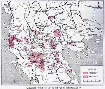 Area di Lingua Meglenorumena tra Grecia e Macedonia