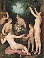 Cornelis Cornelisz van Haarlem - Pomona ontvangt de fruitoogst.jpg