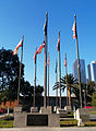 Court of Historic American Flags, Grand Park, Los Angeles, Feb. 24, 2014.jpg