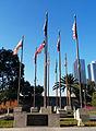 Court of Historic American Flags, Grand Park, Los Angeles, Feb. 24, 2014.jpg