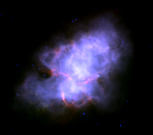The Crab Nebula seen in infrared by the Spitze...