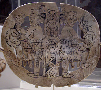 Southeastern Ceremonial Complex - An engraved shell gorget from the Spiro Site