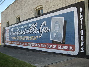 Crawfordville, Georgia - Wall mural in Crawfordville