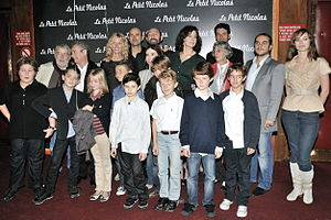 Little Nicholas - Cast and crew at the premiere of the film at the Le Grand Rex in Paris, September 20, 2009.