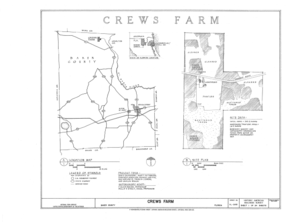 Crews Farm, Macclenny, Baker County, FL HABS FL-398 (sheet 1 of 24).png