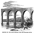 Croton Aqueduct - Harper's 1860 - Section of the high bridge over the Harlem River.jpg