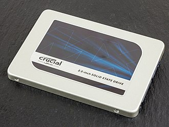 Micron Technology - Crucial-branded 525GB solid state drive.