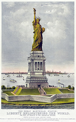 Statue of Liberty lithograph