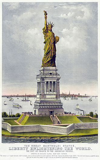Criticism of United States foreign policy - Image: Currier and Ives Liberty 2