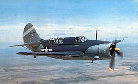 Curtiss SB2C-5 Helldiver warbird in flight.jpg