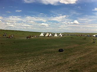 Battle of the Little Bighorn reenactment - Custer's Last Stand Reenactment 2013