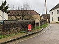 Début de la rue Haute (Blannay) côté église (décembre 2020).jpg