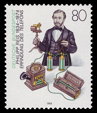 Invention of the telephone - A stamp dedicated to Johann Philipp Reis