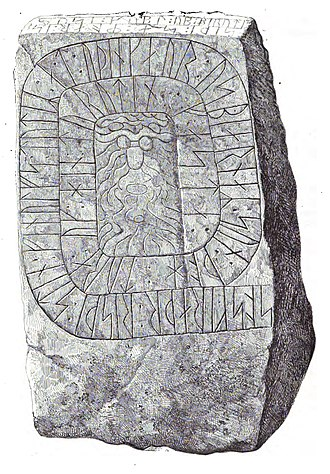Skern Runestone - DR 81 from 1856 drawing.
