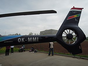 Eurocopter EC120 Colibri - View of the EC120B's tailboom and fenestron anti-torque tail fan