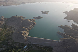 Dahla Dam - Aeria view of Dahla Dam in June 2012