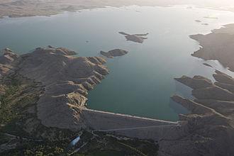 Dahla Dam - Aeria view of Dahla Dam in June 2012