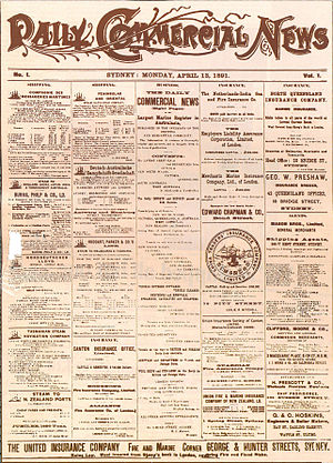 Daily Cargo News - Daily Commercial News, Issue 1, 13 April 1891