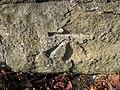 Damaged bench mark on Mold Junction railway bridge - geograph.org.uk - 1459241.jpg