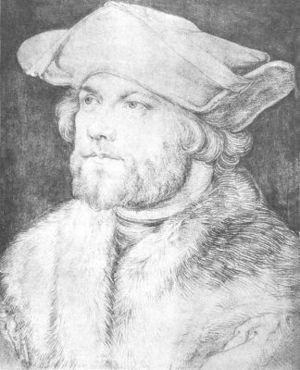 Damião de Góis - Damião de Góis drawing by Dürer, Albertina, Vienna, Austria.