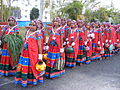Dancers wearing traditional dress of the Banjara Lamadi or Lambani tribe in Andhra Pradesh DSCF7370 (6).JPG