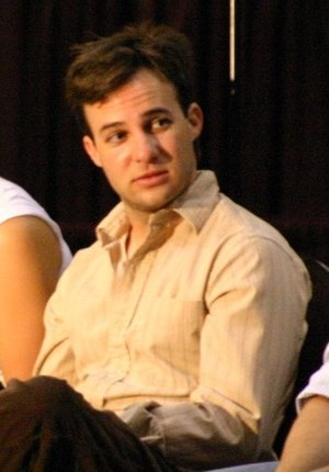 Danny Strong on a panel at the 2004 Moonlight ...