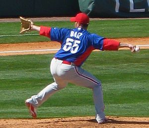Danys Báez - Báez with the Phillies in 2010