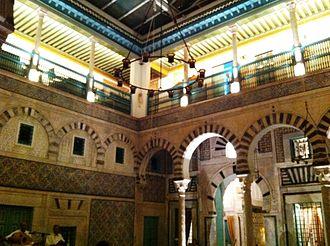 Dar Hammuda Pasha - Courtyard of Dar Hammuda Pasha at night