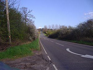 A425 road - Staverton Hill on the A425