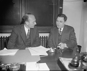 Wendell Willkie - Willkie (right) and David E. Lilienthal